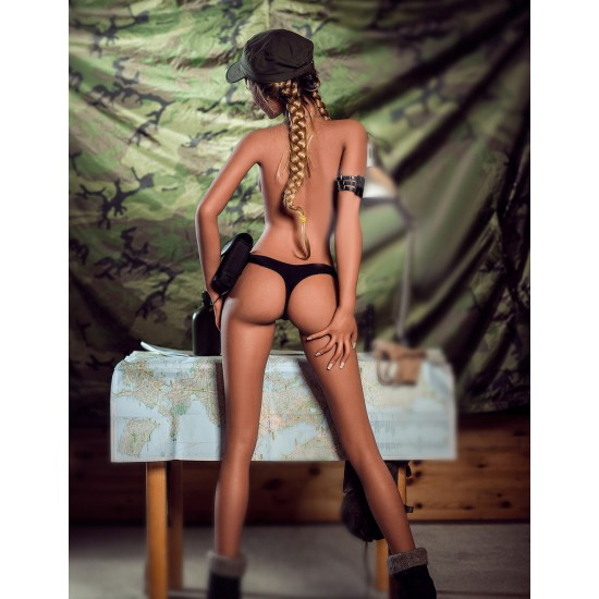 Sexy Coral Army Sex Dolls D Cup 166cm